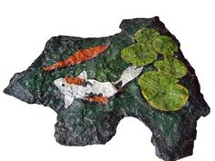 Painted rock fish pond