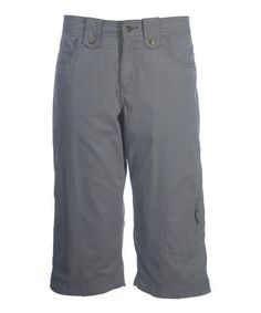 Love this Dove Gray Fast Dry Capri Pants - Women by Ojai Clothing on #zulily! #zulilyfinds