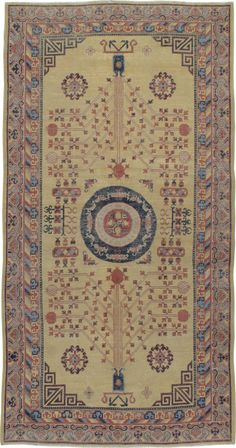 Antique Khotan Gallery Rug, No. 16050 - 5ft. 4in. x 10ft. 3in.