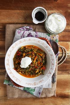 End of Summer Purslane Stew by Olga Irez of Delicious Istanbul