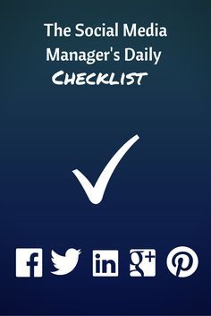 Via @hootsuite - Don't let your demanding job juggling a handful of social networks round the clock overwhelm you. Manage your time smartly with this daily checklist: http://blog.hootsuite.com/social-media-managers-daily-checklist/