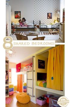 {Boy and Girl} Shared Bedroom Ideas - #4 made me laugh, but it's actually quite brilliant (and cute!)