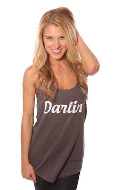 Darlin' tank from ShopRiffraff.com by Charlie Southern