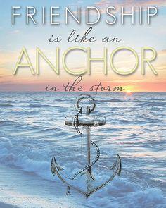 8x10 or 11x14 Friendship is like an anchor by OrangeChickenPrints, $14.00