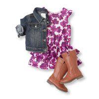 Flutter Sleeve Dress + Denim Jacket + Boot <3 this look! #bigbabybasketsweeps