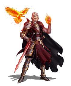 Male Half-Elf Magus - Pathfinder PFRPG DND D&D 3.5 5th ed d20 fantasy