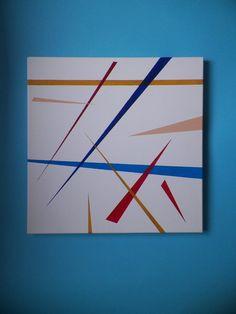 modern abstract painting Acrylic minimal by ArtByAgateJosta, $80.00