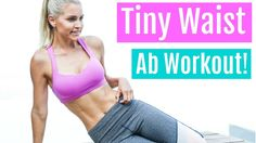 Tiny Waist Ab Workout | Rebecca Louise - YouTube