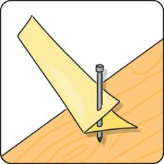 Do you need to drill a hole at a specific angle? Then you can make a wooden drilling accessory with an edge at the same angle. Hold the drill against the angled edge, and then you can be sure you're drilling at the right angle. Tap Washers, Serra Circular, Diy Kids Furniture, Reinforced Concrete, Drip Painting, Home Hacks, Wooden Handles, Clever Diy, Wooden Diy