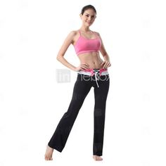 Woman Sports Wear Yoga Suit (Pink Tops+Black Pants)