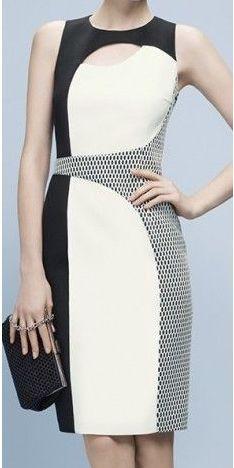 Vestido que alonga e afina a silhueta – DIY – molde, corte e costura – Marlene…