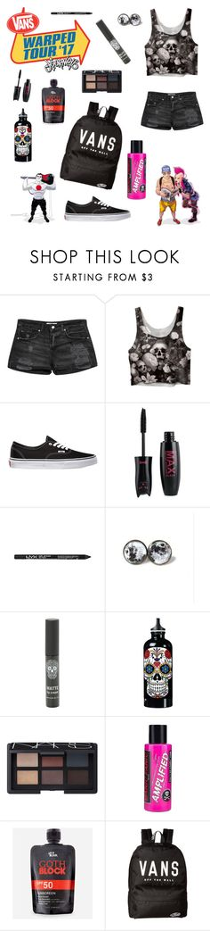 """Guess who's going to Warped Tour!!!"" by fangirling-is-health ❤ liked on Polyvore featuring MANGO, Vans, NARS Cosmetics, Manic Panic NYC and Let it Block"