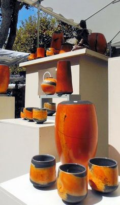 2013 Argilla.Aubagne. France. International pottery fair. Tableware. Deco. Art. Jewels. Earthenware. Stoneware. Raku. Porcelain. Sigillated clay. Smoked clay. Copyright: Laurence Ricciardi