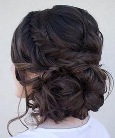 Most Romantic Side Bun for Long Curly Hair 2017