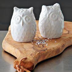 Owl Salt + Pepper Shakers #WestElm
