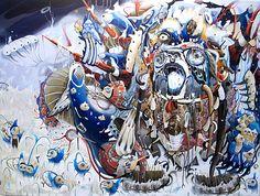 Juxtapoz Magazine - Paintings by Mi Ju Cobra Art, Colorful Paintings, North Pole, Surreal Art, Art World, Art Blog, Fantasy Art, Illustration Art, Illustrations