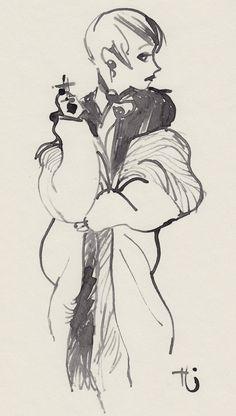 """Fur Coat"" by Uwe Heidschötter http://heidschoetter.tumblr.com/post/66078152116/fur-coat-by-uwe-heidschotter#notes #Fashion Passion to Fur world"