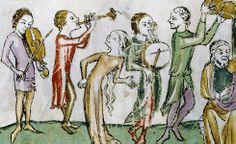 Tänzerin mit offenem Haar Bibliothèque Nationale Paris, ms. latin 688