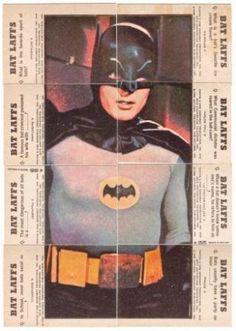 'Batman' Photo of Batman Puzzle Back. Art by Norm Saunders & Bob Powell Real Batman, Batman Tv Show, Batman Tv Series, Batman And Superman, Batman Comics, Batman Robin, Batman Stuff, Dc Comics, Dc Comic Books