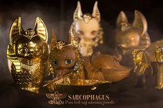 [BLACK BOX] Anubis SARCOPHAGUS Anubis accessories dog big egg coffin - Taobao