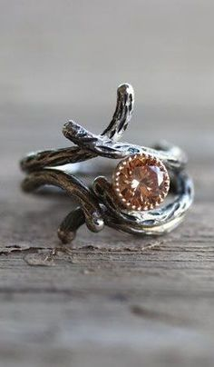 Branch Engagement Wedding Ring Set ==