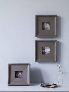 Three Square Grey Gesso Frames NEW