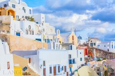 Santorini; Greece; Aegean Sea; Oia town; blue church; sunset Santorini Greece, Sea, Sunset, Blue, Painting, Sunsets, Painting Art, Ocean, Paintings