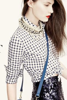 Gingham   Pearls   Sequins#Repin By:Pinterest++ for iPad#