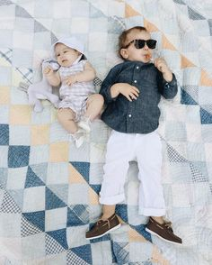 summer picnic vibes in head-to-toe @janieandjack! adam is decked out in timeless classics and edith is wearing a baby boy getup!  #janieandjacksummer
