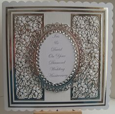 Lizzies craft space: Diamond Wedding Anniversary Card