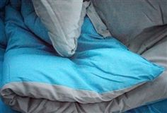 Has Two Cool Colors - Aqua Gray Reversible Comforter - College Comforters Are Essential