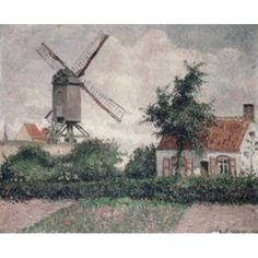 Moulin a Knocke Belgique 1894 Camille Pissarro (1830-1903French) Oil on Canvas Private Collection Canvas Art - Camille Pissarro (24 x 36)