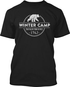 Hipster Winter Camp T-Shirt Design #556