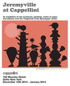 show poster from my installation at Cappellini, Wooster St SoHo New York.
