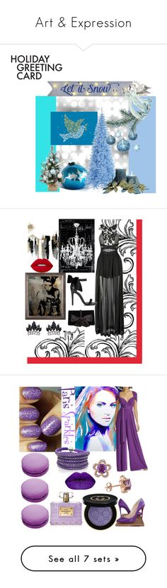 """""""Art & Expression"""" by mdfletch ❤ liked on Polyvore featuring art, holidaygreetingcard, PVStyleInsiders, Three Floor, Oliver Gal Artist Co., Miss Selfridge, Ann Taylor, Fallon, Lime Crime and celebrity"""