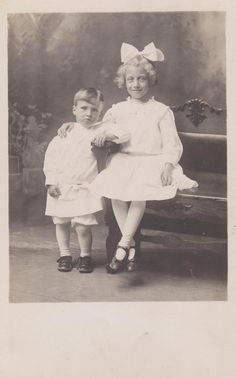 ADORABLE Old Photograph Big Sister and Little Brother 1800s Vintage Postcard Photo Paper Ephemera Snapshot Collectibles Formal Picture by NostalgicEphemera on Etsy