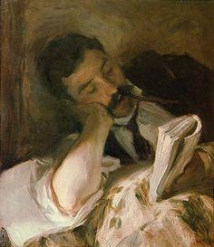 Man Reading - John Singer Sargent (American, 1856-1925)