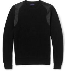 Lanvin Satin-Insert Wool Sweater   MR PORTER