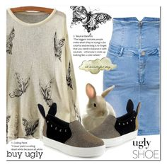 """""""Tricky Trend"""" by jecakns ❤ liked on Polyvore featuring outfit, flatshoes, falltrend and oglyshoes"""