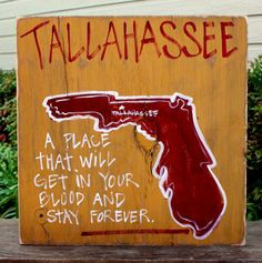 Tallahassee Hand Painted Sign from Simply Southern Signs and Bourbon & Boots 29.00