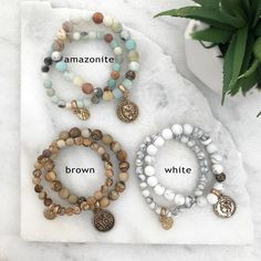 Stone Bracelets Sets | 6 Colors | Jane