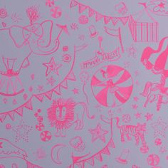 Wallpaper Circus Rose / design by Emma Roux #StudioEmmaRoux