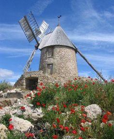 A 15 minutes de Carcassonne, au milieu des vignobles du Minervois, découvrez le Moulin à Vent de Villeneuve-Minervois, rare moulin en activité du département.
