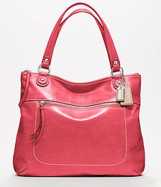 ca7ddf4981 COACH POPPY LEATHER GLAM TOTE Designer Handbags Outlet