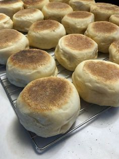 Farmhouse English Muffins – 1840 Farm Homemade English Muffins, Homemade Muffins, Muffin Recipes, Bread Recipes, Bread Proofer, Warm Milk And Honey, Different Types Of Bread, Digital Food Scale, Cinnamon Recipes