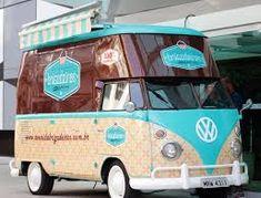 kombi food truck - from a VW type II. Food Trucks, Kombi Food Truck, Ice Truck, Mini Camper, Vw T1 Camper, Volkswagen Bus, Kombi Trailer, Food Trailer, Coffee Carts