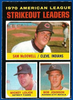 1971 opc o-pee-chee #baseball #71 al strikeout ldrs mcdowell/lolich ex/exmt (02) from $3.99