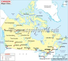 map of canada with all cities and towns  Google Search  canada
