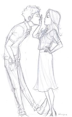 Drawings by Burdge :) Cute Couple Drawings, Cute Drawings, Drawing Sketches, Pencil Drawings, Drawing Art, Cartoon Drawings, Sketching, Character Design Cartoon, Character Art