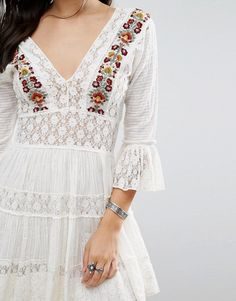 Free People | Free People Antiquity Embroidered Lace Dress